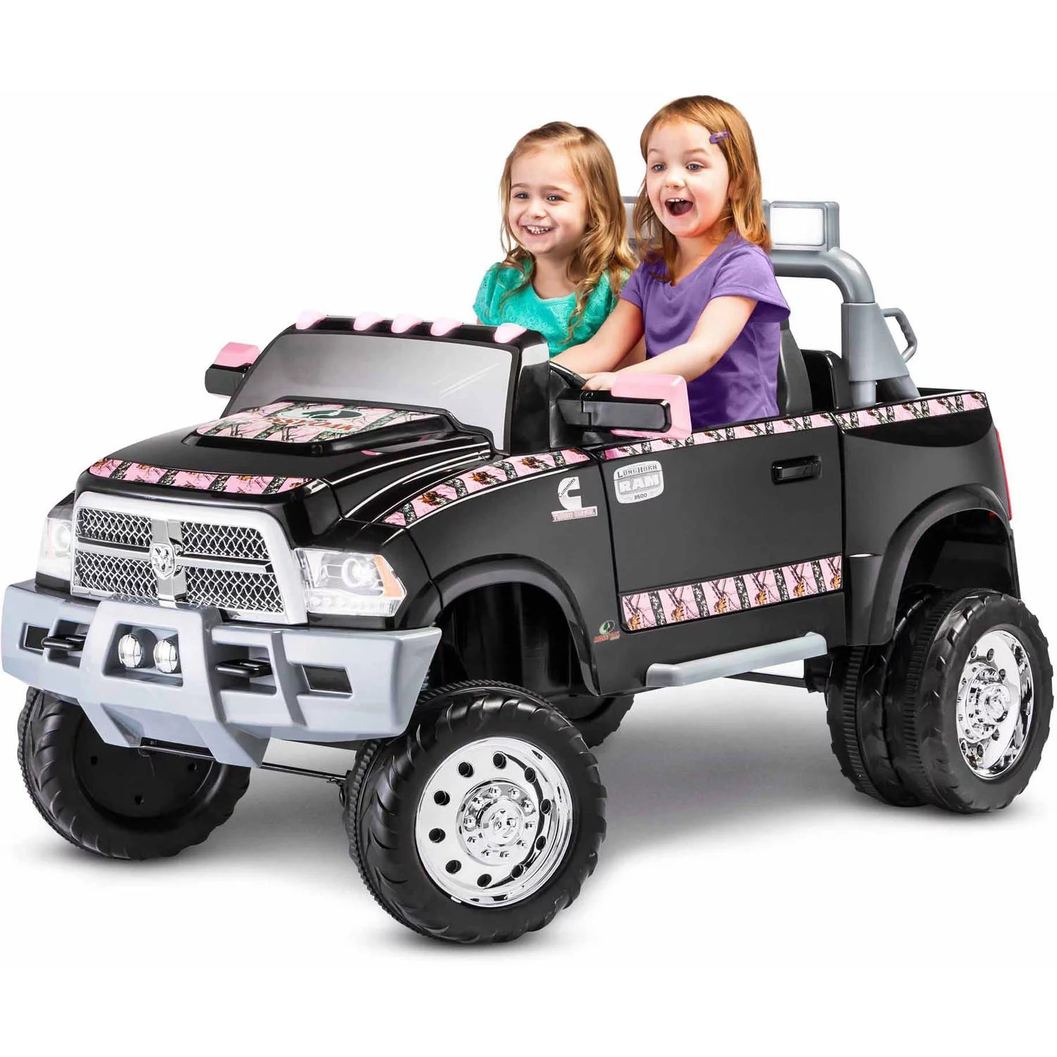 Big W Toy Cars Kidtrax Ram 3500 Dually Longhorn Edition 12 Volt Battery