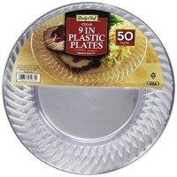 Daily Chef Clear Plastic Plates, 9 Inch, 50 Count ...