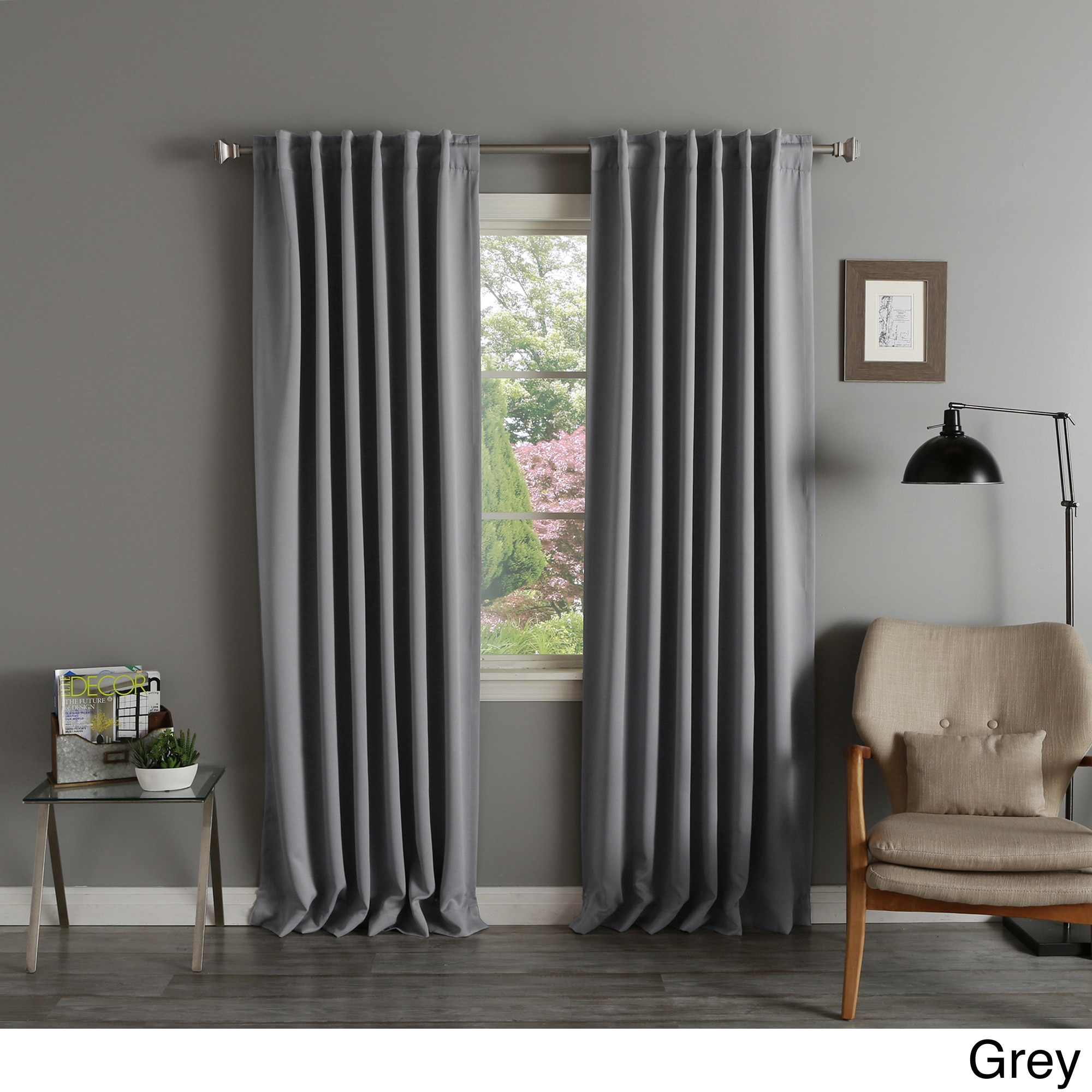 102 Inch Curtains Aurora Home Solid Insulated Thermal Blackout Curtain Panel Pair