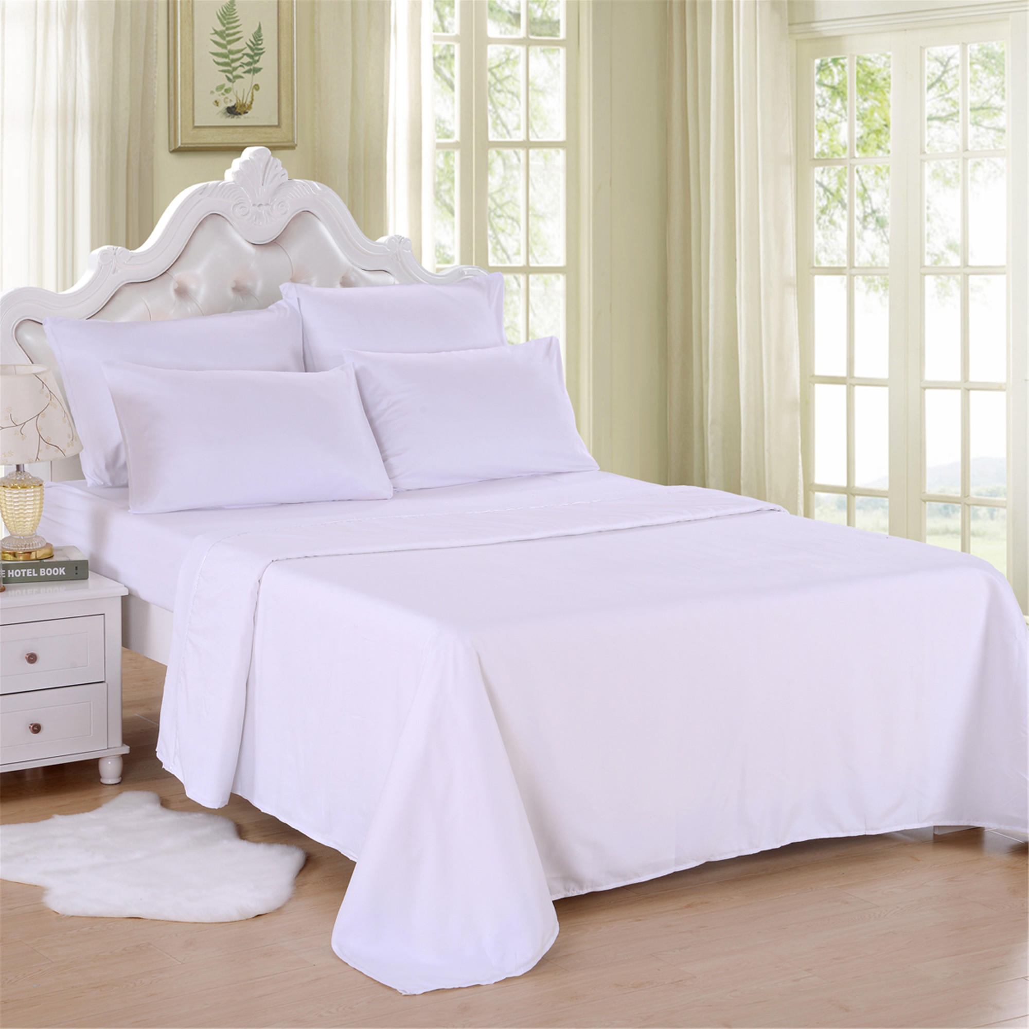 Deep Fitted Sheets Queen Size 6 Piece Soft Brushed Microfiber Bed Sheet Set By Jml 18