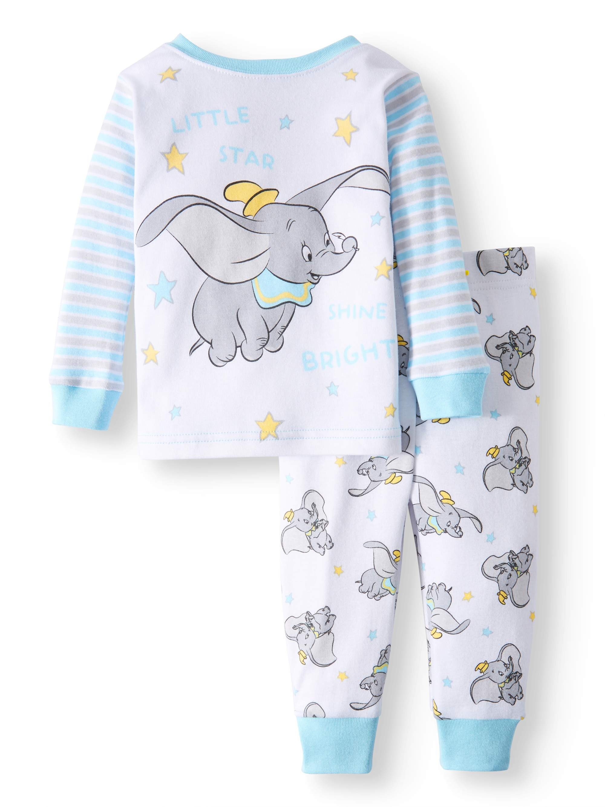Bad Set For Baby Dumbo Cotton Tight Fit Pajamas 2 Piece Set Baby Boys Walmart