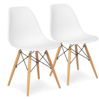 Best Choice Products Set of 2 Eames Style Dining Chair Mid ...