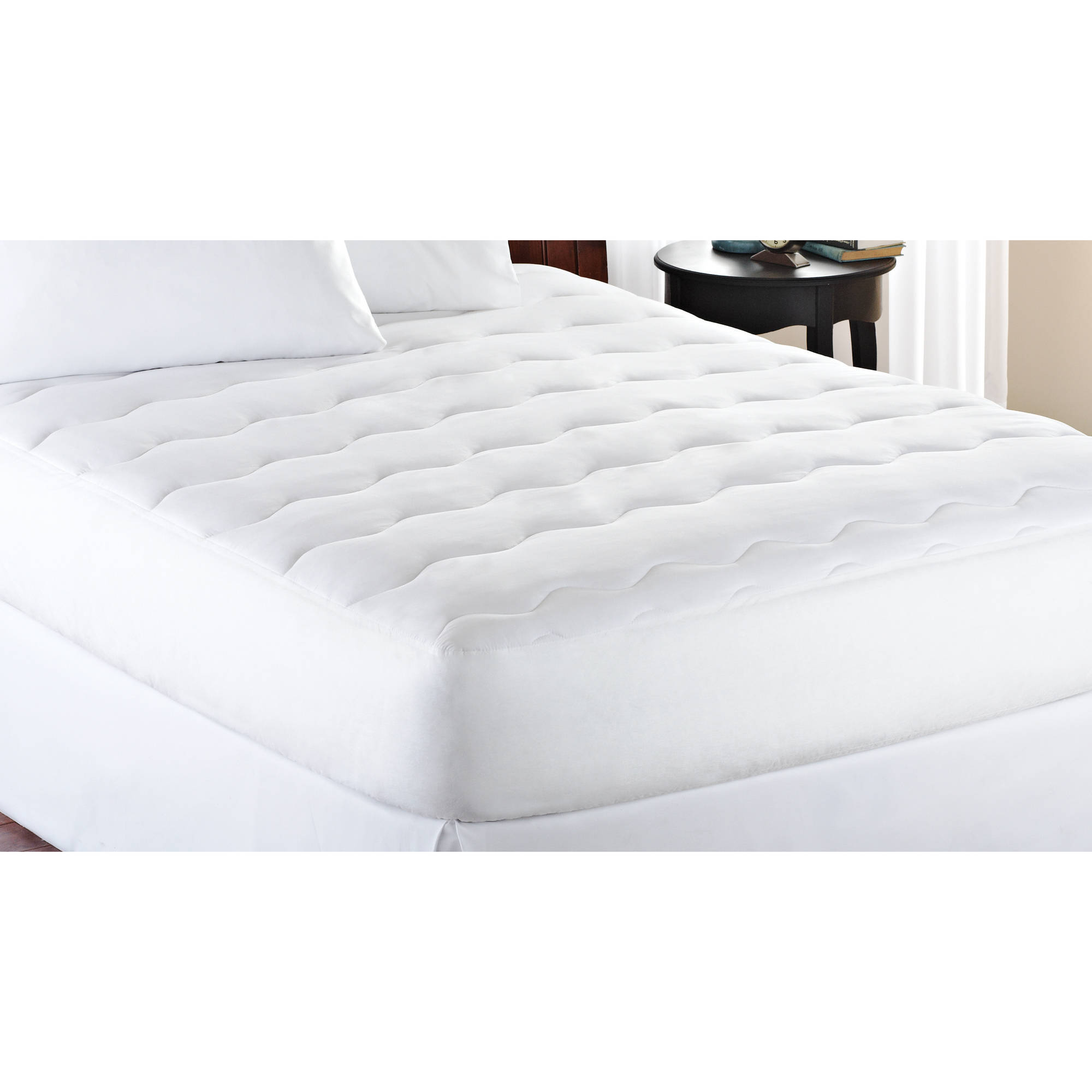 Thin Mattress Topper Mainstays Extra Thick 1 Quot Mattress Pad White Ebay
