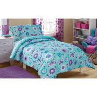 Mainstays Kids Butterfly Floral Bed in a Bag Bedding Set ...