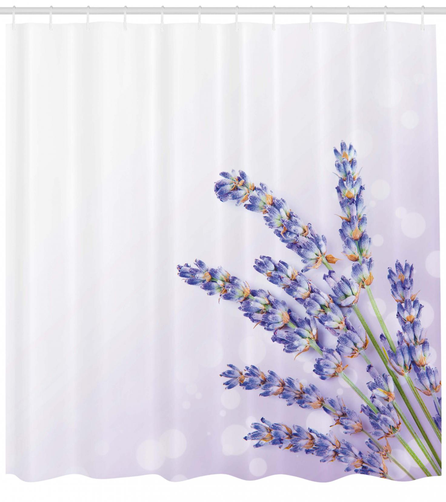 Lavender Shower Curtains Lavender Shower Curtain Little Posy Of Medicinal Herb Fresh Plant Of Purple Flower Spa Aromatheraphy Organic Fabric Bathroom Set With Hooks