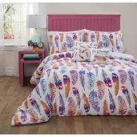 Formula Watercolor Feather Bed in a Bag Bedding Set ...