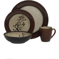 Home Trends Home Trend 16pc Dinnerware Set Red Chant ...