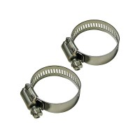 Set of 2 Large Stainless Steel Swimming Pool Hose Clamps 2 ...
