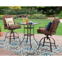 Mainstays Wentworth 3-Piece High Outdoor Bistro Set, Seats ...