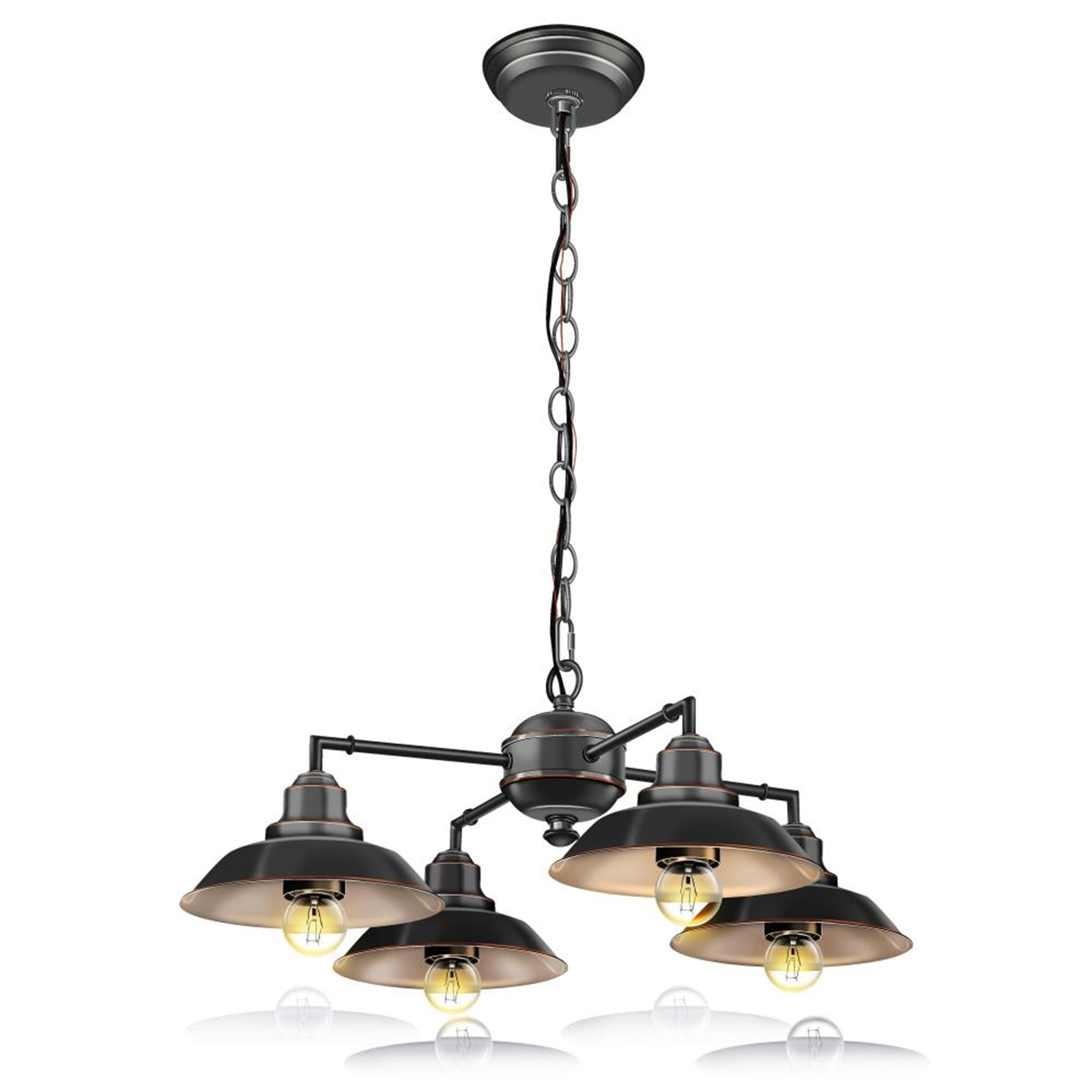 Hanging Lamp Serenelife Vintage Style Chandelier Pendant Hanging Lamp Light Fixture With Metal Lighting Accent