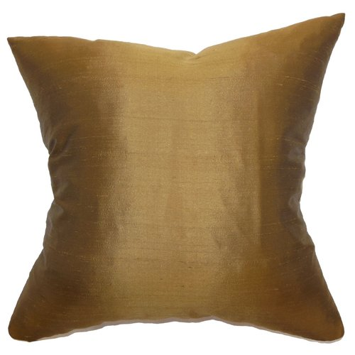 The Pillow Collection Wantliana Solid Linen Throw Pillow
