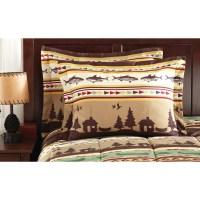 Twin/Twin XL Fishing Cabin Lodge Canoe Comforter Sheet Set ...