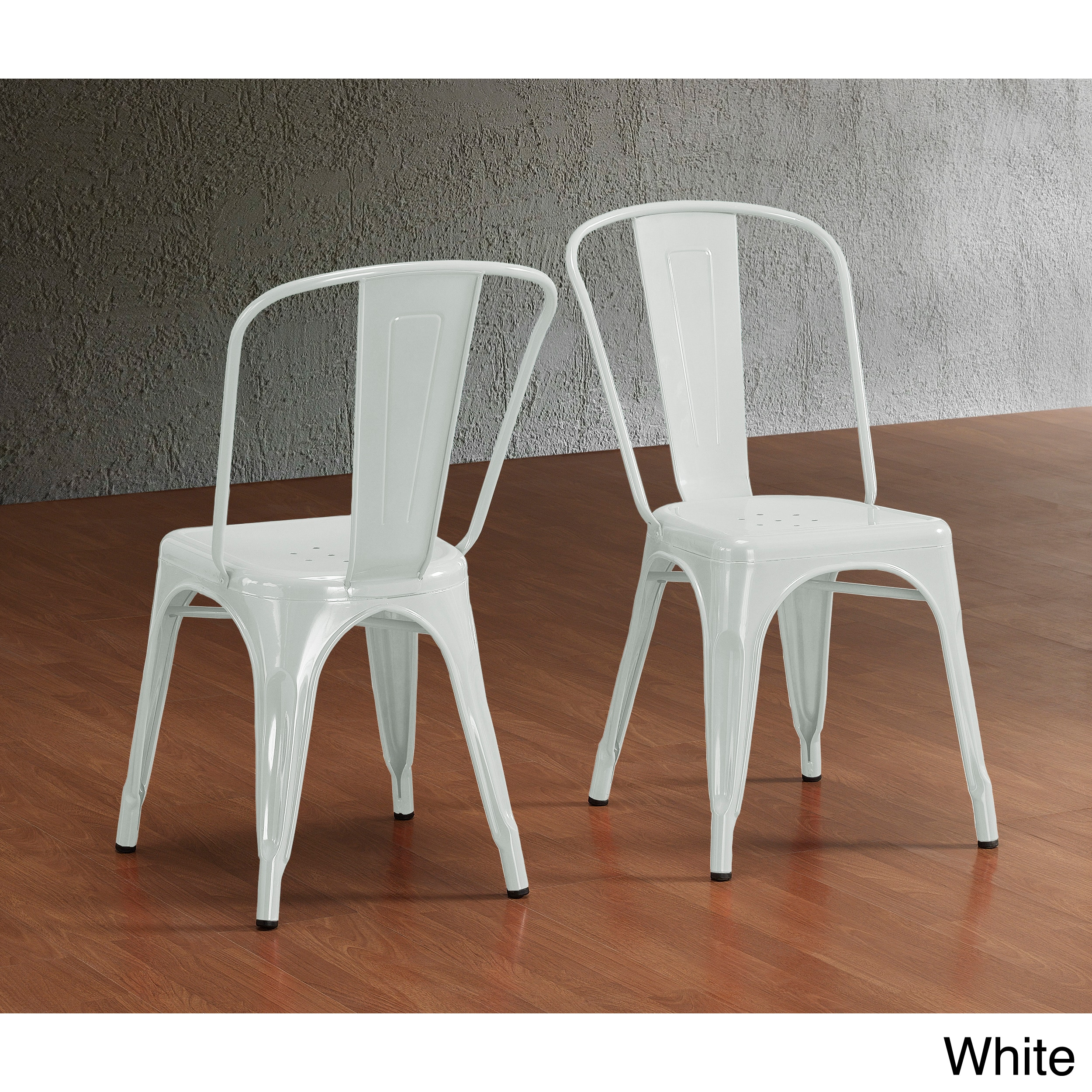Tabourets Walmart Tabouret Bistro Steel Dining Chairs Set Of 2