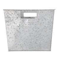 Galvanized Metal Storage Bin Home Organizer Basket ...