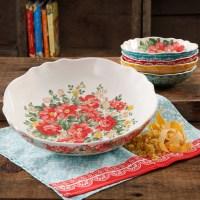 The Pioneer Woman Vintage Floral 5-Piece Pasta Bowl Set ...