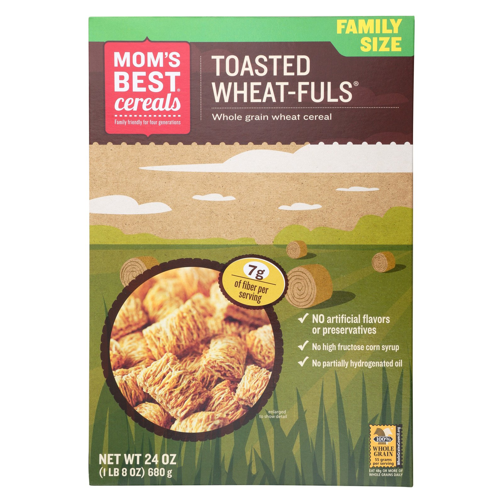 Moms Best Mom S Best Naturals Wheat Fuls Toasted Case Of 12 24 Oz