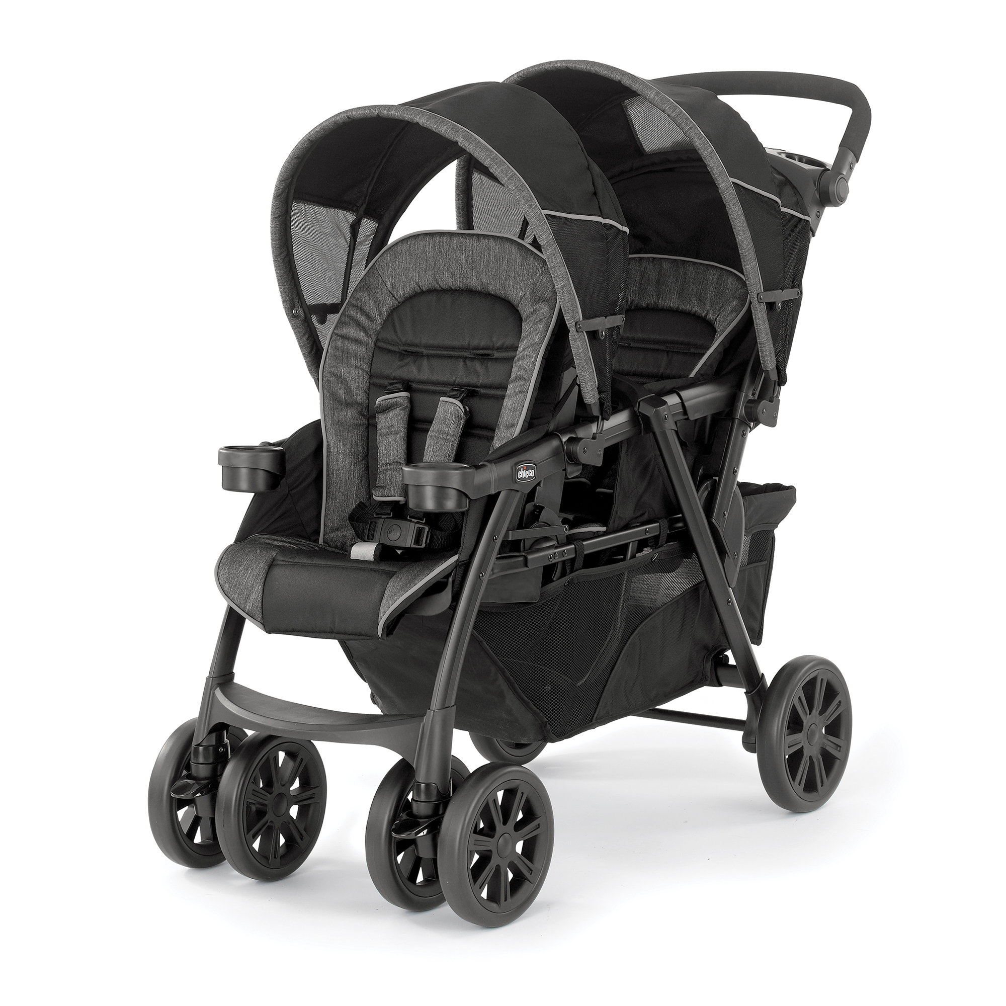Travel System Tandem Stroller Chicco Cortina Together Travel System Car Seat Compatible Double Stroller Ombra