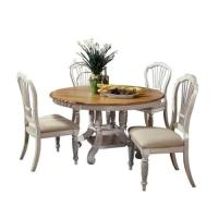 Hillsdale Wilshire 5 Piece Round Dining Table Set in ...