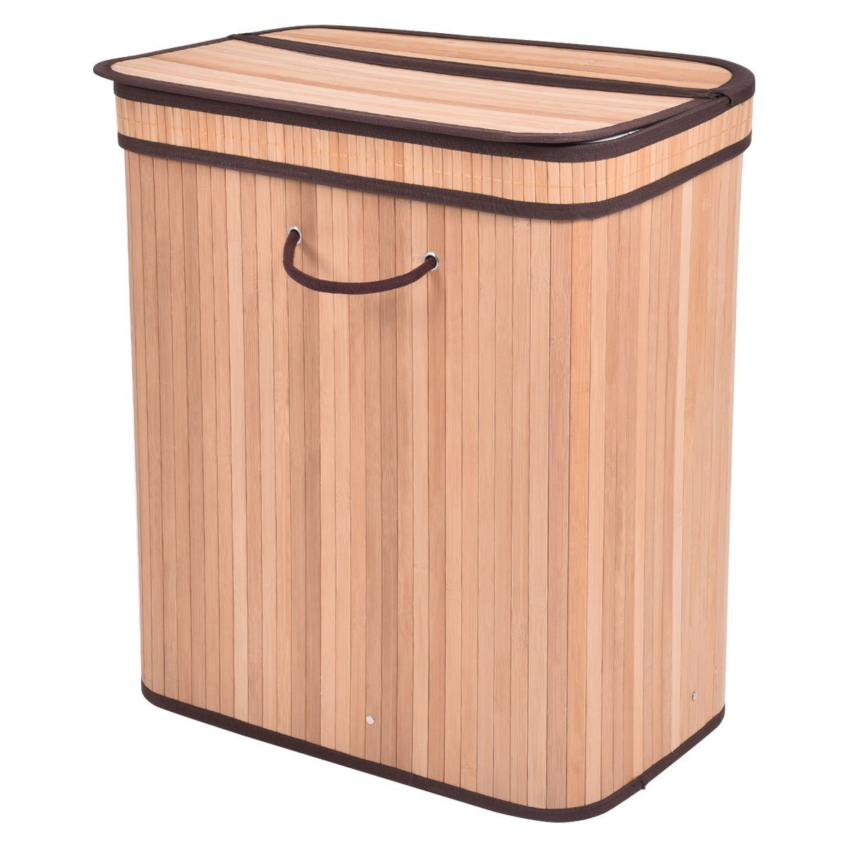 Wood Clothes Hamper With Lid Large Rect Bamboo Laundry Hamper Basket With Lid Natural