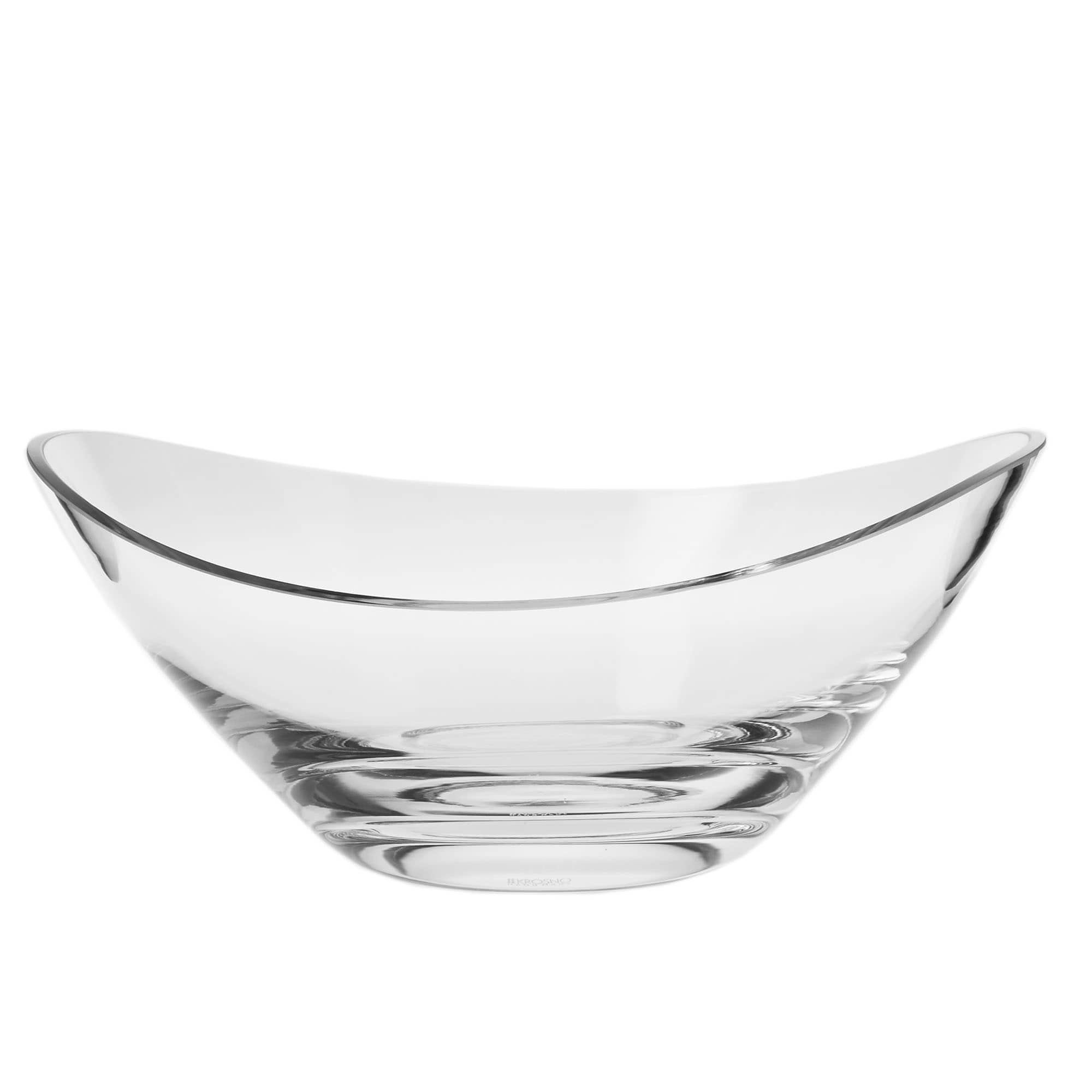Decorative Glass Bowls Krosno Swoop Handmade Serving Bowl