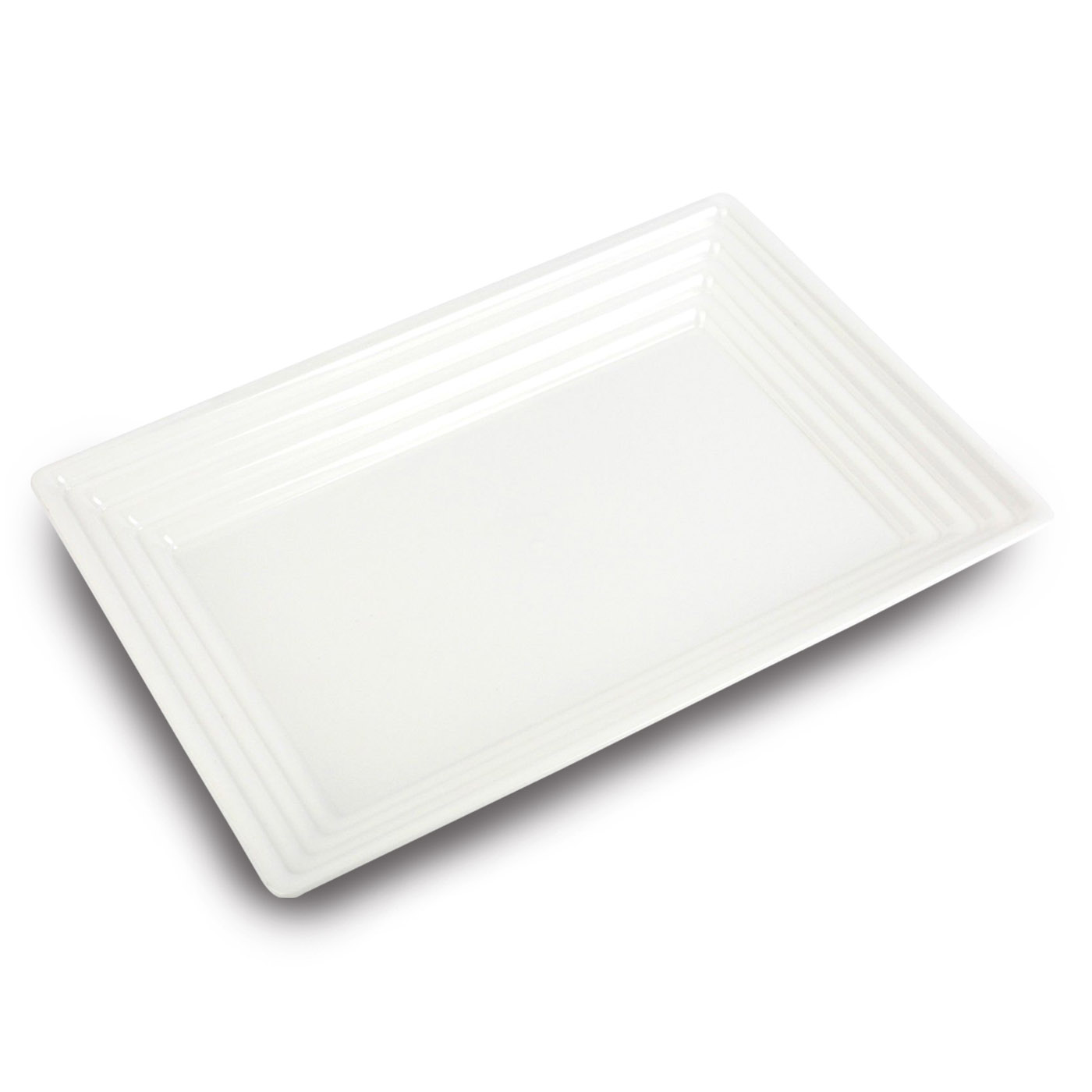 Black Serving Tray Kaya Collection White Plastic Serving Tray Heavyweight Rectangular Platter 11
