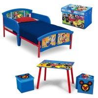 Disney Mickey Mouse 5-Piece Toddler Bed Bedroom Set with ...