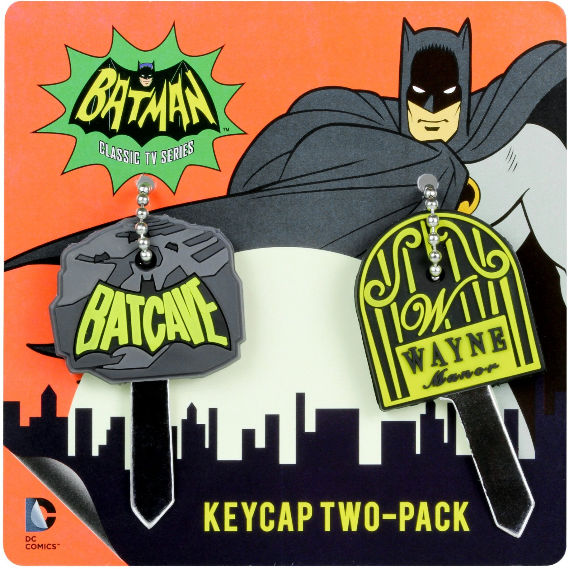 Television Series Of Batman Classic Tv Series Keycap 2 Pack