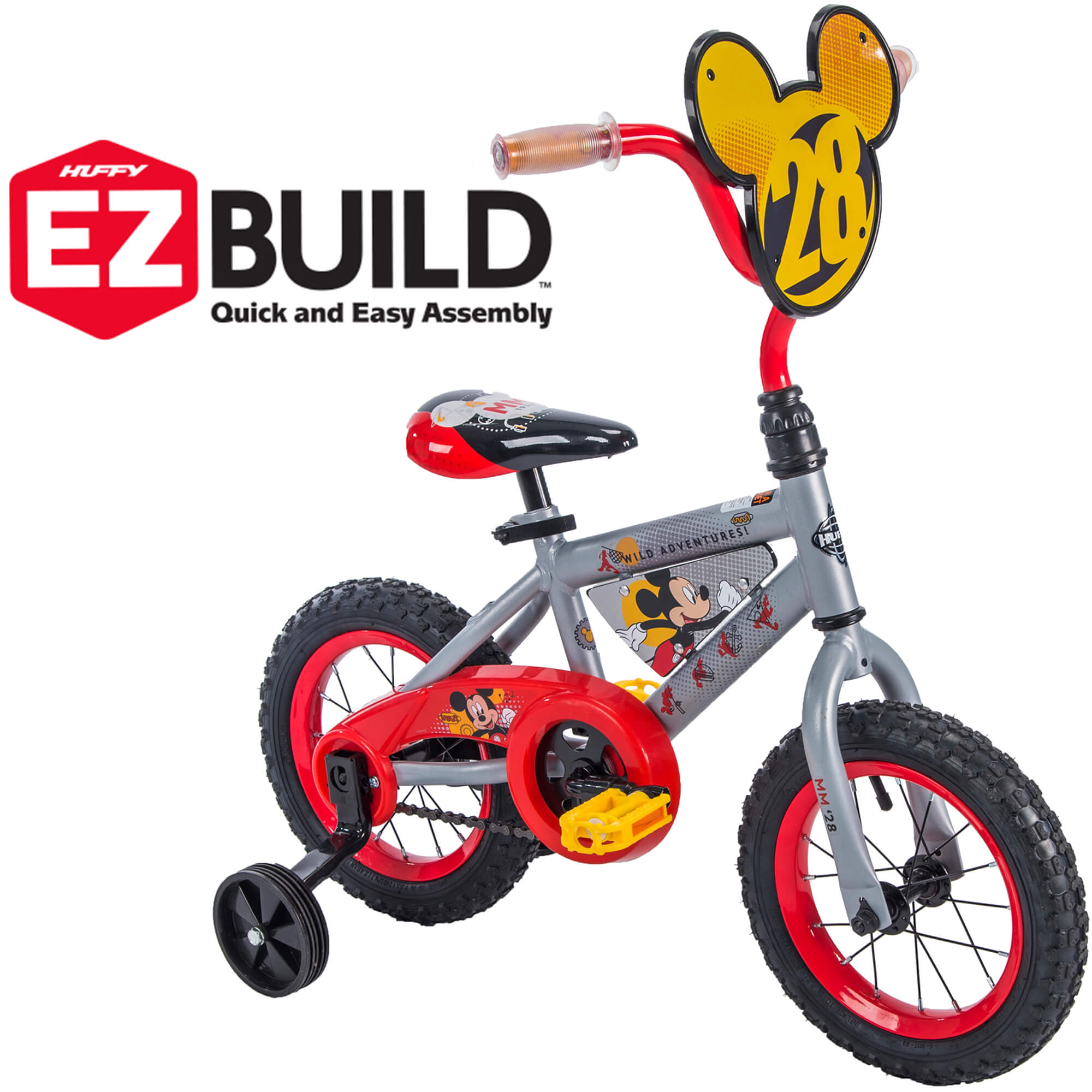 Disney Mickey Disney Mickey 12 Boys Ez Build Bike By Huffy
