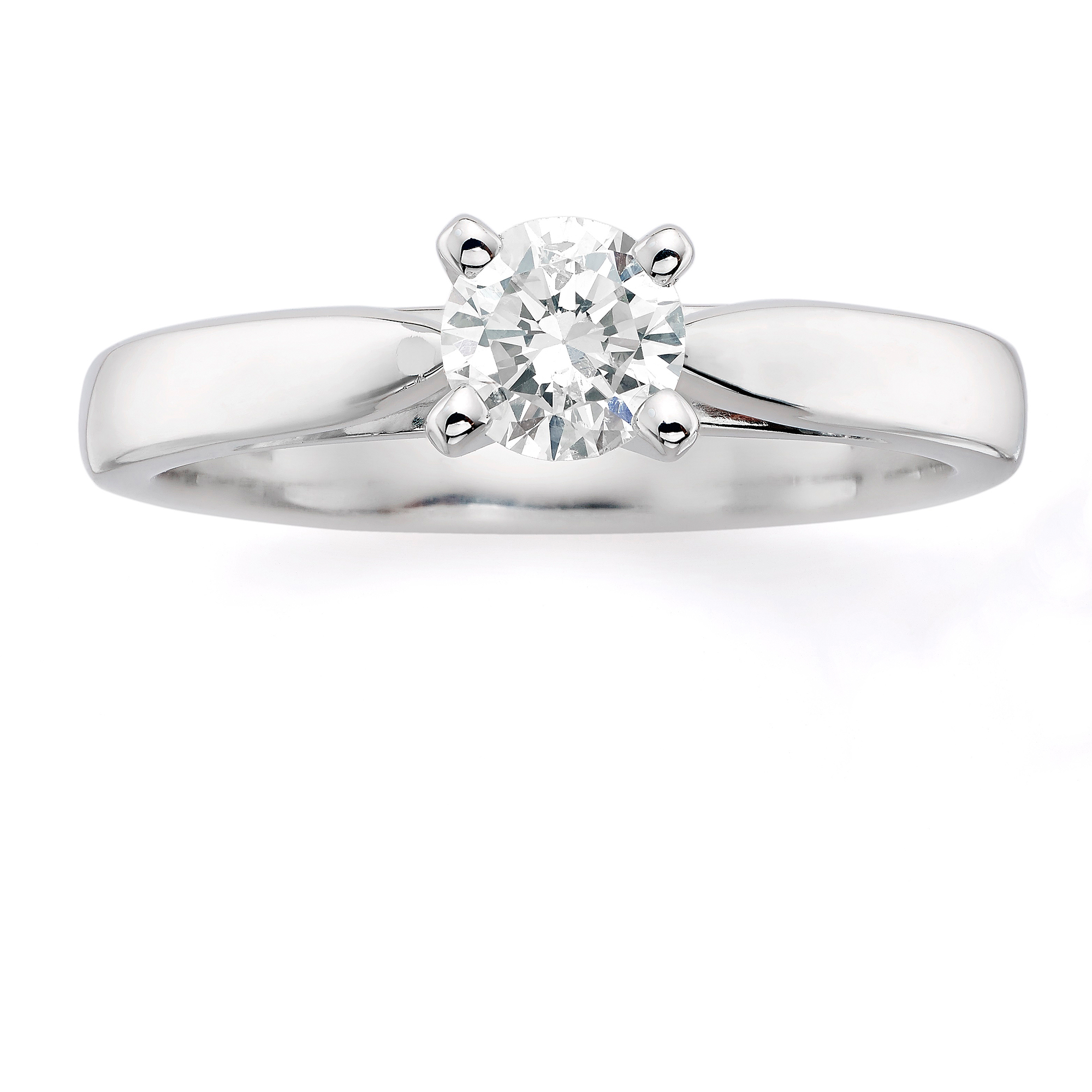 Always & Forever Platinaire 1/2 Carat Round Solitaire Ring