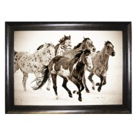 Pictures and Mirrors Wild Horses Framed Wall Art - Walmart.com