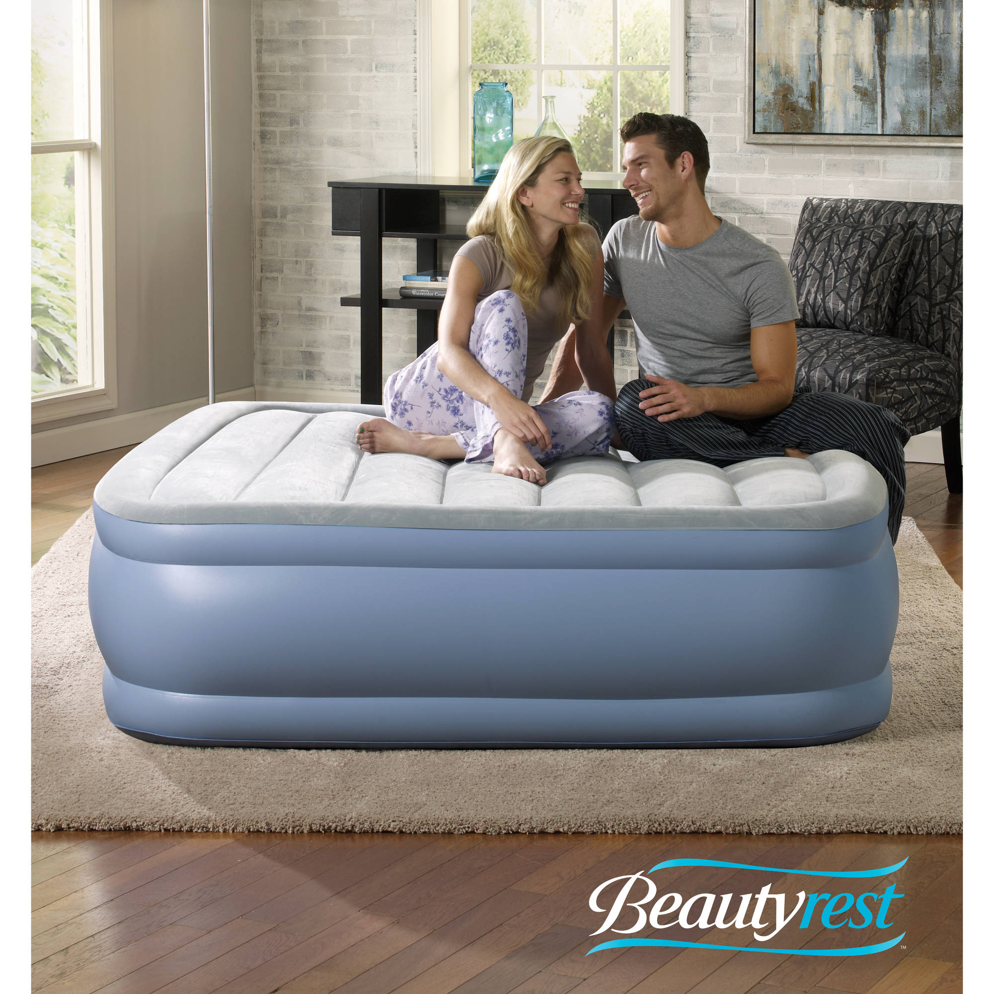 King Size Air Bed Camping Beautyrest Hi Loft Raised Air Bed Mattress With Express Pump