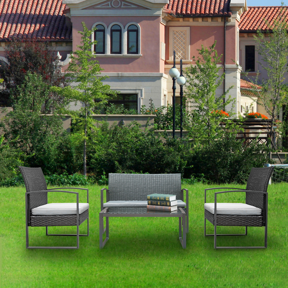 Patio Furniture Sets Clearance Outdoor 4 Piece Rocking Bistro Set Garden Lawn Pool Backyard - Garden Furniture Clearance Leicestershire