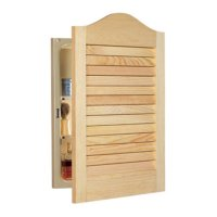 Jensen Medicine Cabinet Unfinished Wood Arched Louver with ...
