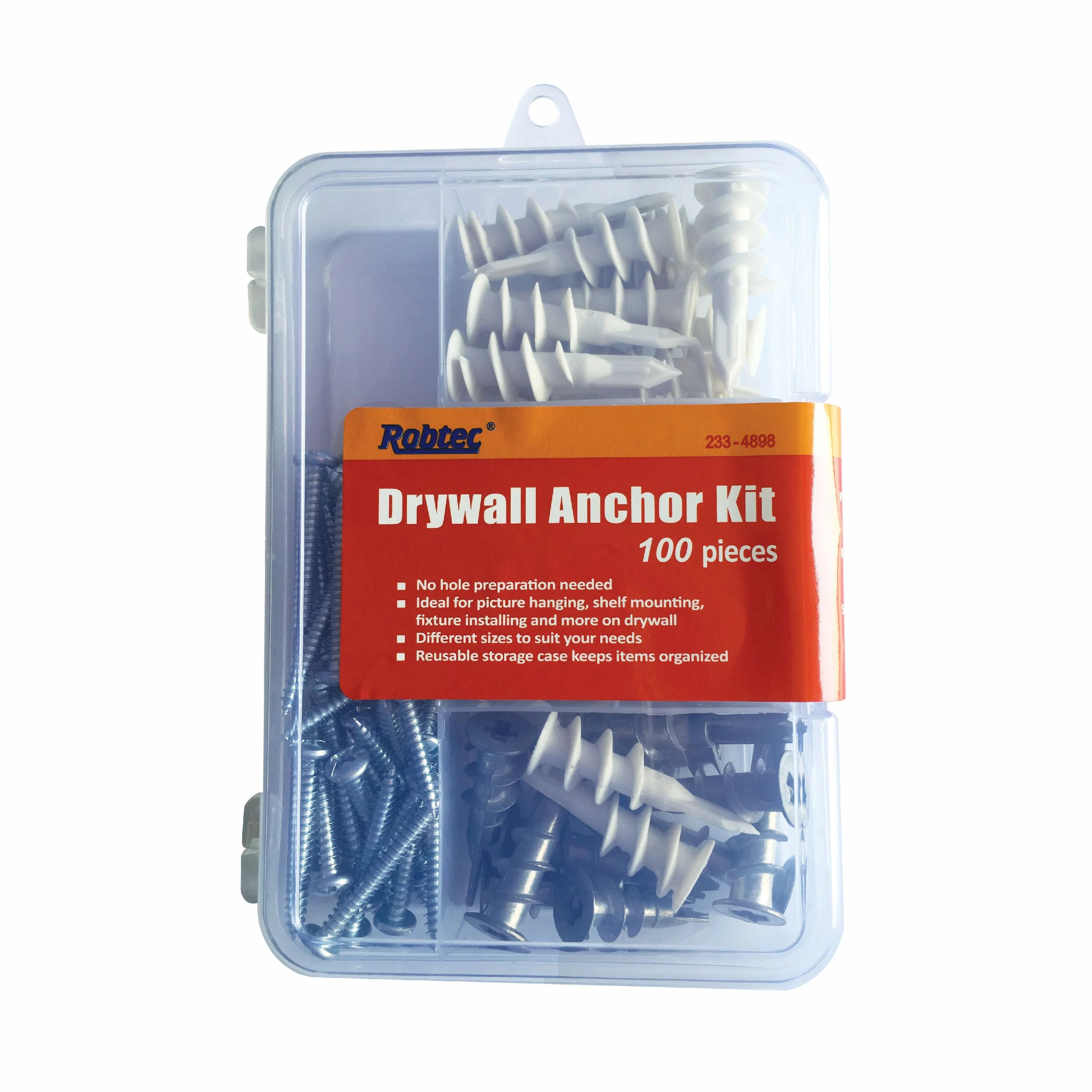 3 8 Drywall Robtec 3 8 ½ X 1 1 4 1 5 8 Drywall Anchor Assortment 100 Pack