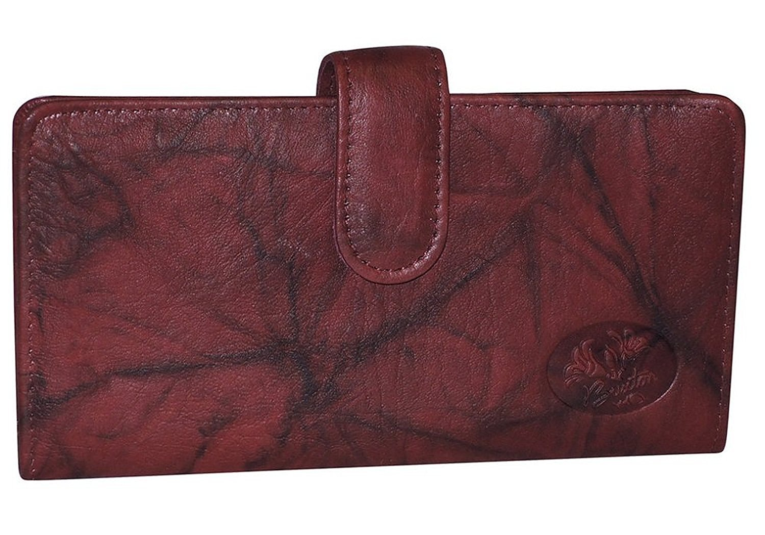 Buxton Leather Heiress Tab Checkbook Cover Credit Card