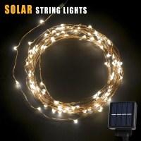BetterHome 120 LEDs Outdoor Solar Powered LED String ...