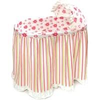 Badger Basket Embrace Bassinet with Stripe and Flower ...