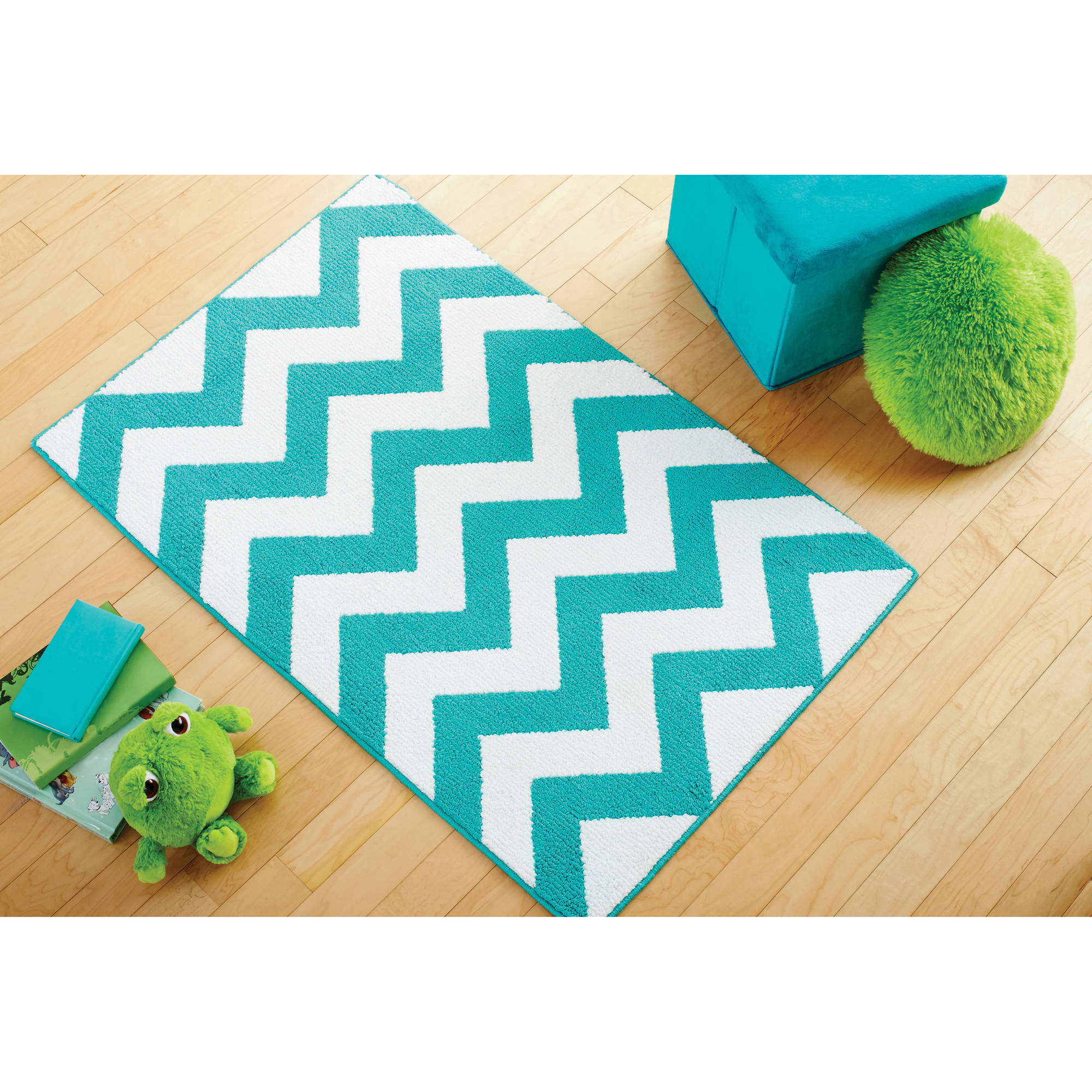Children's Floor Rugs Mainstays Kids Chevron Pattern Rug