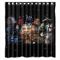 DEYOU Movie Star Wars Shower Curtain Polyester Fabric ...