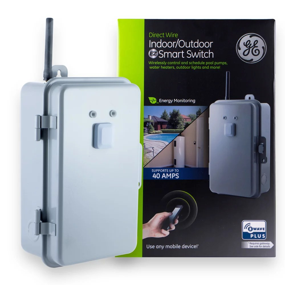 Camera Ip Exterieur Zwave Ge Z Wave Plus Indoor Outdoor Direct Wire Smart Home Switch 40 Amp 14285