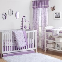 The Peanut Shell 4 Piece Baby Girl Crib Bedding Set ...