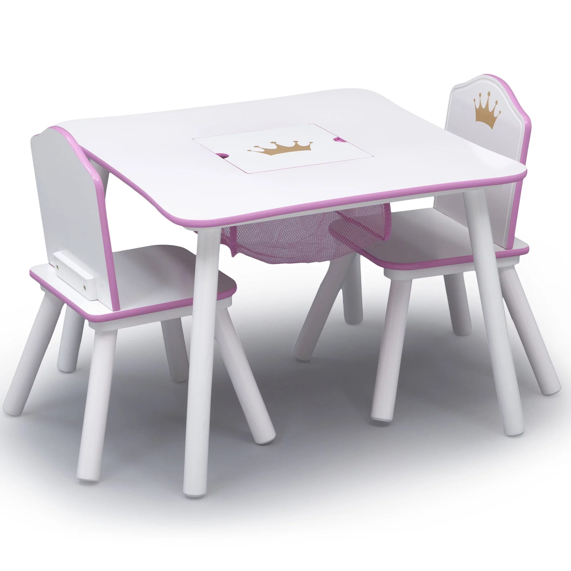 Childrens Table And Chair Set Details About Kids Table Chair Set Children Princess Crown Storage Scratch Resistant Home Pink