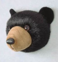 Bear Head Stuffed Animal Wall Mount Hunter Nursery ...