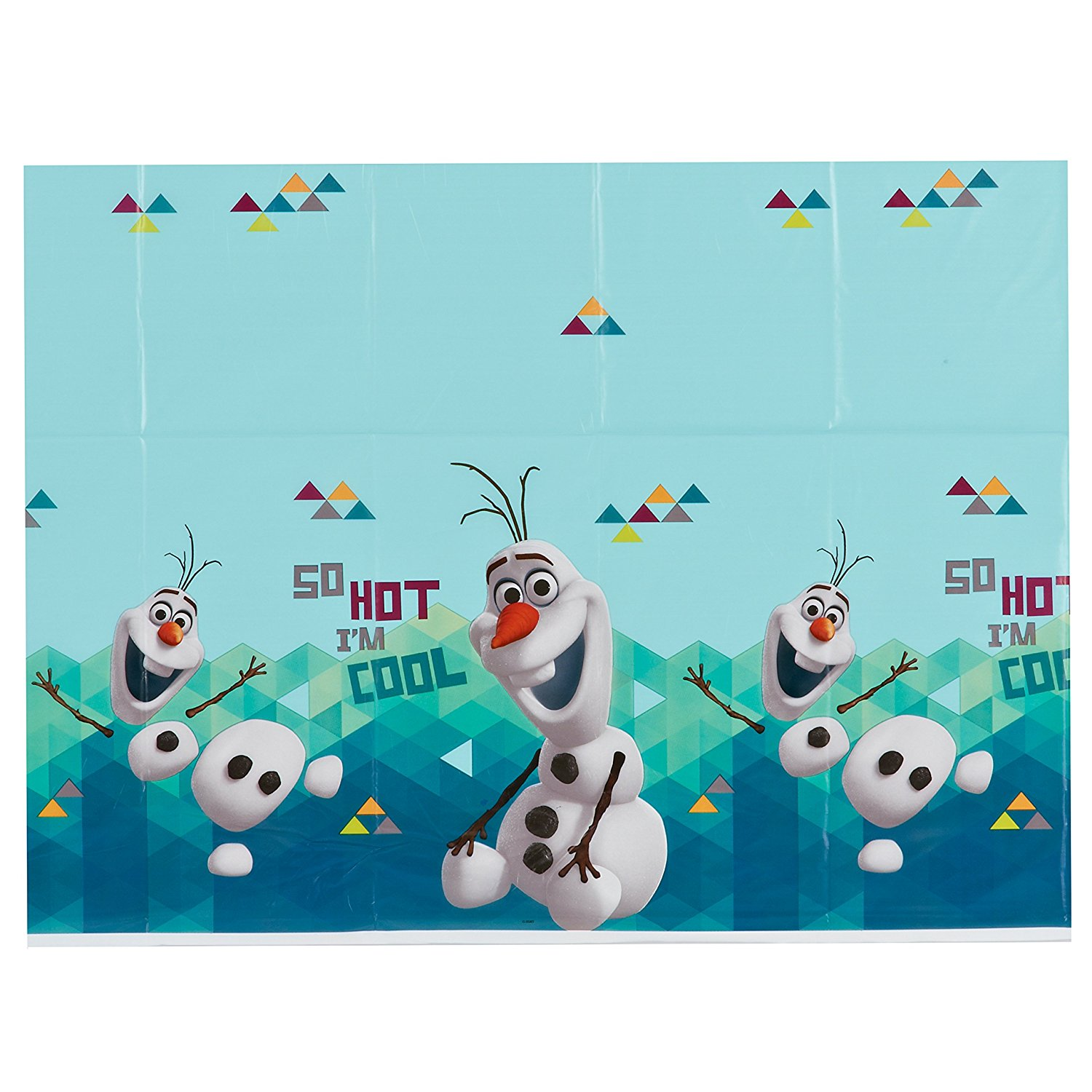 Decoration Olaf Anniversaire Olaf Plastic Table Cover 54