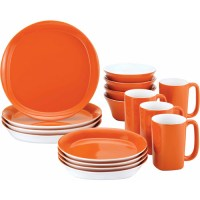 Rachael Ray 16-Piece Dinnerware Set, Round Square ...