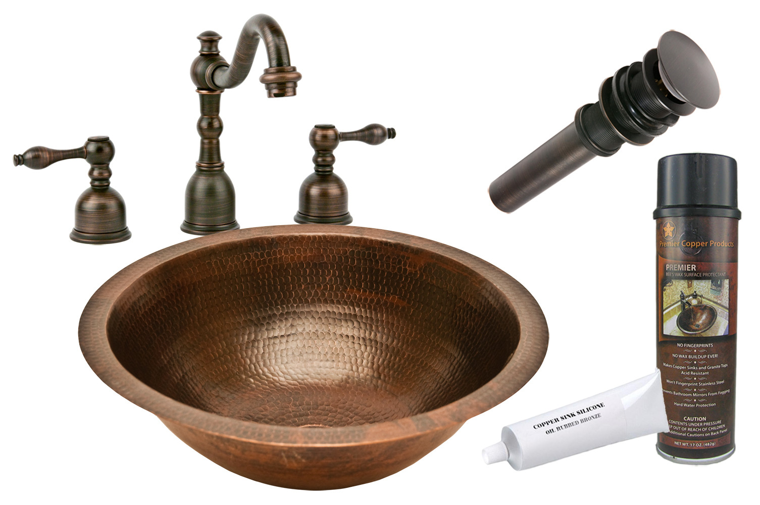 Premier Copper Products Bsp2 Lr17fdb 17quot Copper Undermount
