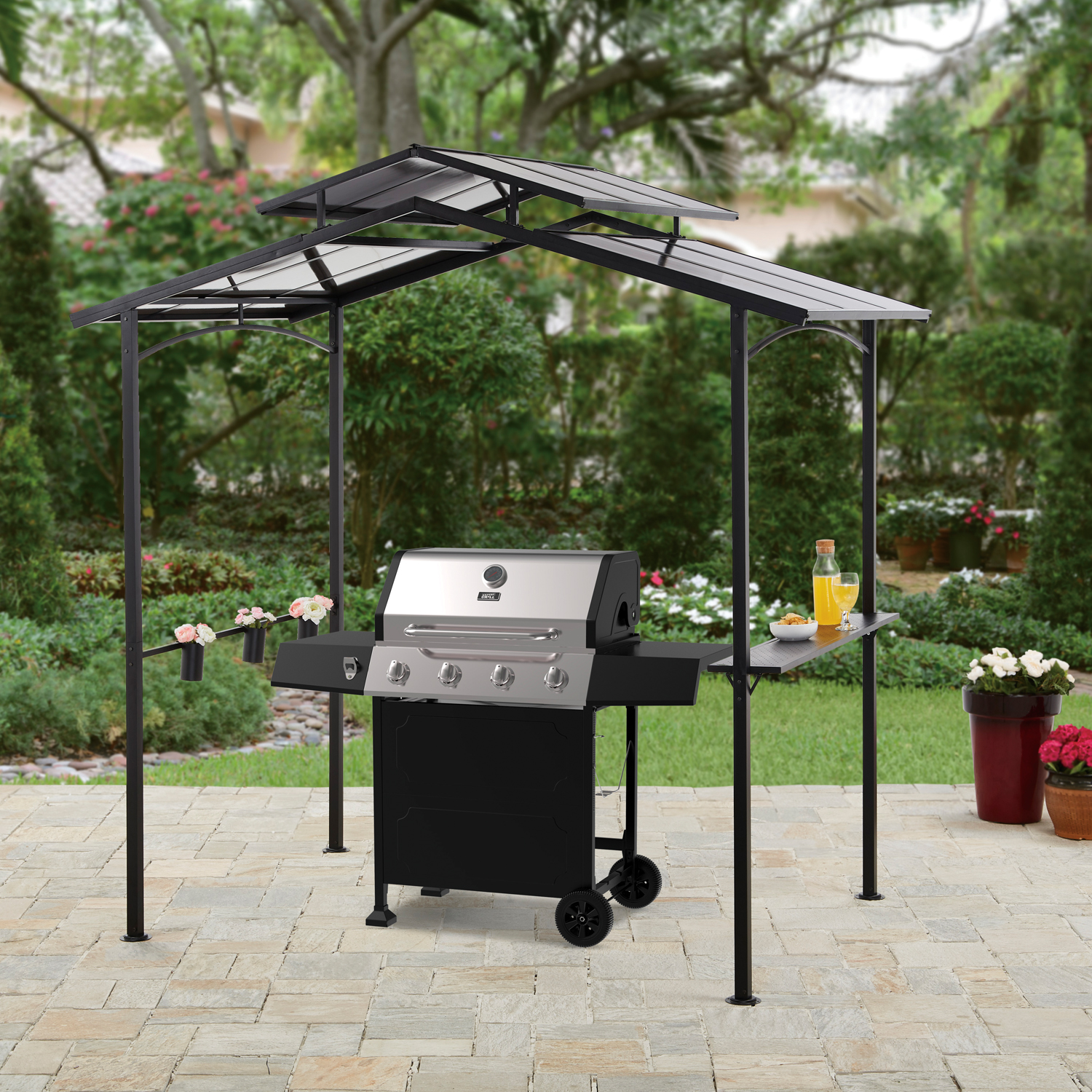 Outdoor Grill Better Homes Gardens Winmark Outdoor 8l X 5w X 8h Ft Hardtop Grill Gazebo Walmart
