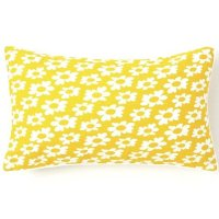 Jiti Pillows Daisy Cotton Pillow in Yellow - Walmart.com