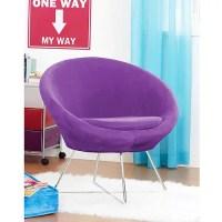 Your Zone Orb Chair, Purple Stardust - Walmart.com