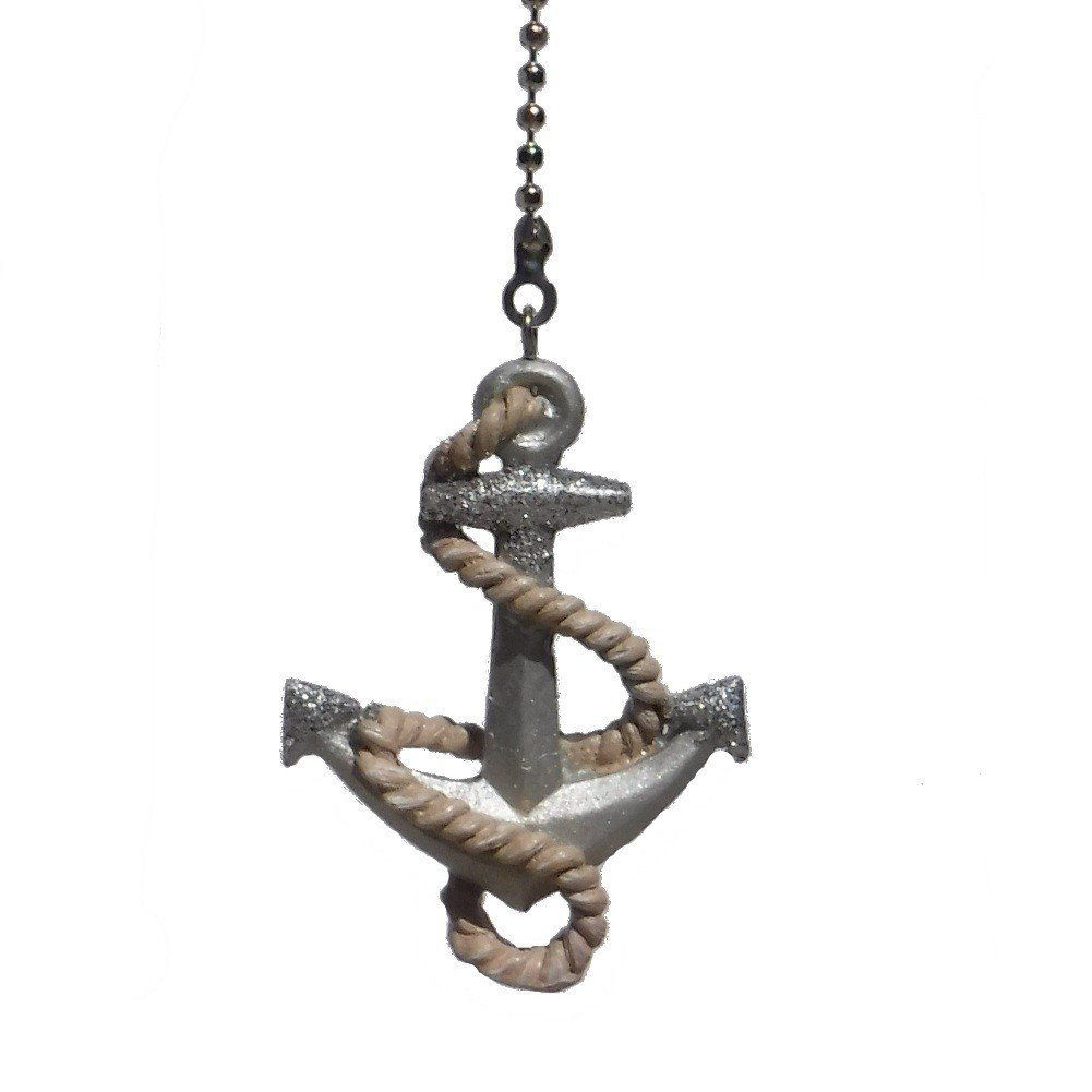 Boat Ceiling Fan Boat Ship Anchor Rope Nautical Ceiling Fan Pull Light Chain Extender Ornament Easy To Attach To Your Existing Chain By Weez Industries